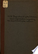 Memorandum History of the Department of the Interior