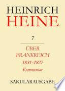 Über Frankreich 1831-1837. Berichte über Kunst und Politik. Kommentar