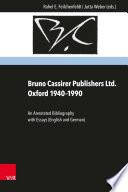 Bruno Cassirer Publishers Ltd. Oxford 1940–1990