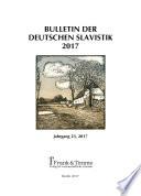 Bulletin der Deutschen Slavistik 2017