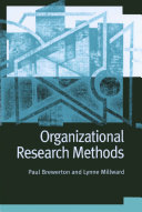 Organizational research methods a guide for students and researchers /