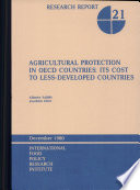 Agricultural Protection in OECD Countries