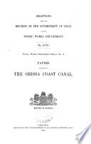 Papers Relating to the Orissa Coast Canal
