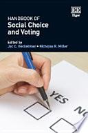 Handbook of Social Choice and Voting
