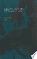 substantive criminal law of the european union