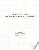 Proceedings Of The 8th Python In Science Conference