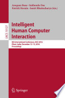 Intelligent Human Computer Interaction