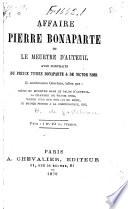 Affaire Pierre Bonaparte  ou Le meurtre d Auteuil