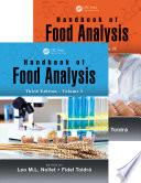 Handbook of Food Analysis  Third Edition   Two Volume Set