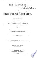 Transactions of the Illinois State Agricultural Society  with Reports from County and District Agricultural Societies Book PDF