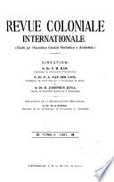 Revue coloniale internationale