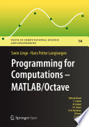 Programming For Computations Matlab Octave