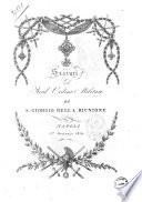 Statuti del Real ordine militare di S Giorgio della Riunione Napoli  1  gennajo 1819