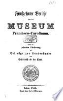 Funfzehnter Bericht Uber das Museaum Francisco-Carolinum