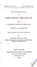 An Introduction to Latin Prose Composition