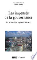 Les impens  s de la gouvernance  La soci  t   civile  r  ponse    la crise