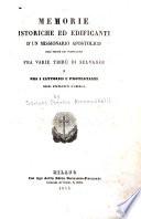 Memorie istoriche ed edificanti d un missionario apostolico dell  Ordine dei predicatori
