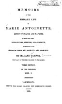 download ebook memoirs of the private life of marie antoinette, queen of france and navarre pdf epub
