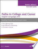 English Language Arts  Grade 6 Module 1