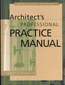 Architect S Professional Practice Manual book