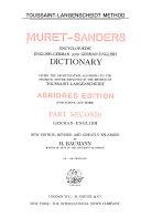 download ebook muret-sanders enzyklopadisches englisch-deutsches und deutsch-englisches worterbuch: deutsch-englisch, neue, verb. und stark verm. aufl pdf epub