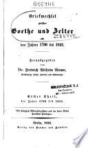 Briefwechsel zwischen Goethe und zelrer