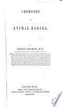 Chemistry of Animal Bodies