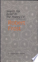 download ebook search for belief in the poetry of robert frost pdf epub