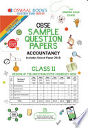 Oswaal Cbse Sample Question Paper Class 11 Accountancy For March 2019 Exam