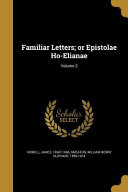 FAMILIAR LETTERS OR EPISTOLAE Culturally Important And Is Part Of The