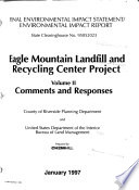 Eagle Mountain Landfill and Recycling Center Project  Riverside County
