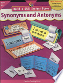 Build a Skill Instant Books  Synonyms and Antonyms  Gr  K   1  eBook