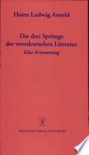 Die drei Sprünge der westdeutschen Literatur