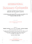International Dictionary and Cyclop  dia