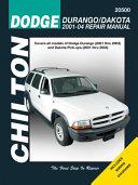 Chilton S Dodge Durango Dakota 2001 04 Repair Manual
