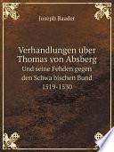 Verhandlungen uber Thomas von Absberg