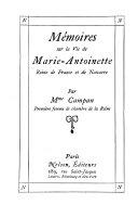 M Moires Sur La Vie De Marie Antoinette