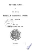 Proceedings Of The Royal Medical Chirurgical Society Of London
