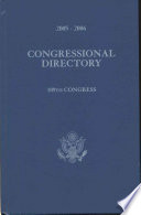 Official Congressional Directory  2005 2006  109th Congress  Convened January 4  2005