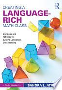 Creating a Language Rich Math Class
