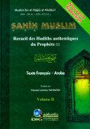Sahih Muslim Recueil des Hadiths authentiques du Prophete 1-2 Vol 2 Book