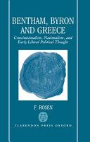 Bentham  Byron  and Greece