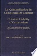 illustration Criminal Liability of Corporations = LA Criminalisation Du Comportement Collectif