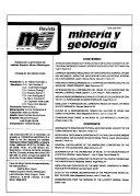Revista miner  a y geolog  a