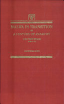 Malwa in Transition Or a Century of Anarchy