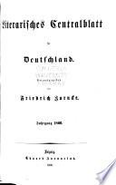 Literarisches Centralblatt f  r Deutschland