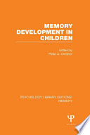 Memory Development in Children  PLE  Memory