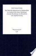 Das deutsche S  ngerwesen in S  daustralien vor Ausbruch des ersten Weltkrieges zwischen Bewahrung von Deutschtum und Anglikanisierung