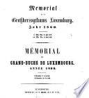 Memorial des Großherzogthums Luxemburg