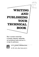 Writing and publishing your technical book